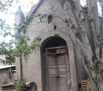Antigua capilla de la ex hacienda como cuyero-Mayo 2018