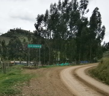 Ingreso al distrito de Caja Espíritu(esta carretera actualmente es aslfatada)