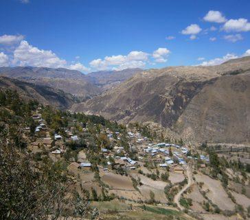 Paisaje rural en las cercanías de Lircay