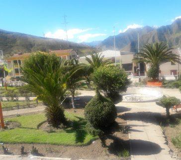 Plaza de armas del distrito de Huancarama-Junio 2018