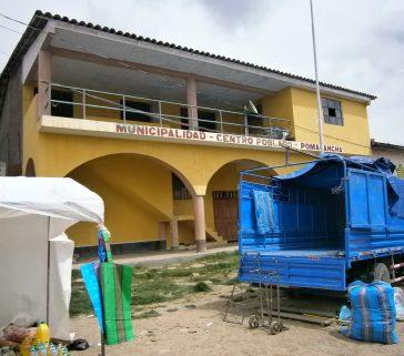 Centro Poblado de Pomacancha en el distrito de Pomacocha
