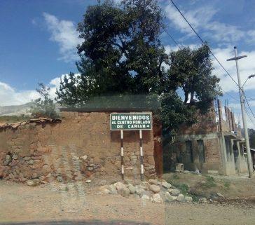 Proyecto-R-A Carhuaz-Centro Poblado de Carian, ingreso a Comunidad Campesina Tres de Octubre Zanja