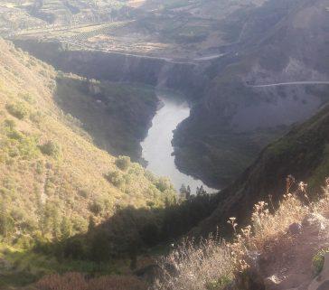 Río Mantaro al atardecer-Mayo 2018