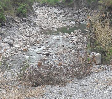 Río Mantaro en época de sequía-Mayo 2018