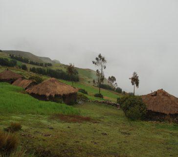 Casas típicas de campesinos en las alturas de Rosario